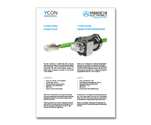 Y-Con RJ45 Crimp Plug Cat6A