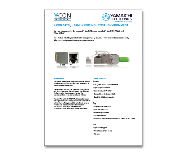 Y-Con Profix-Plug Socket Cat6A IP20
