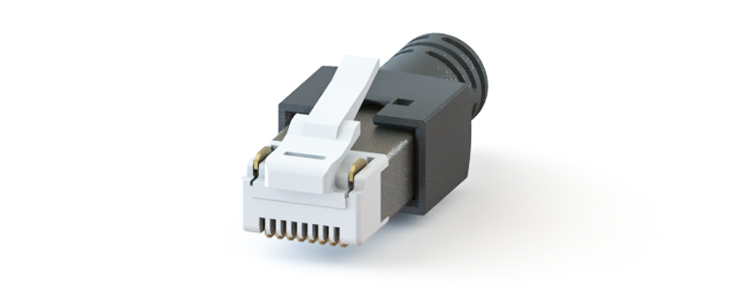 RJ45 - Y-CON - IP20 - Kit - Plug - 8 Signal / 2 Power Contacts