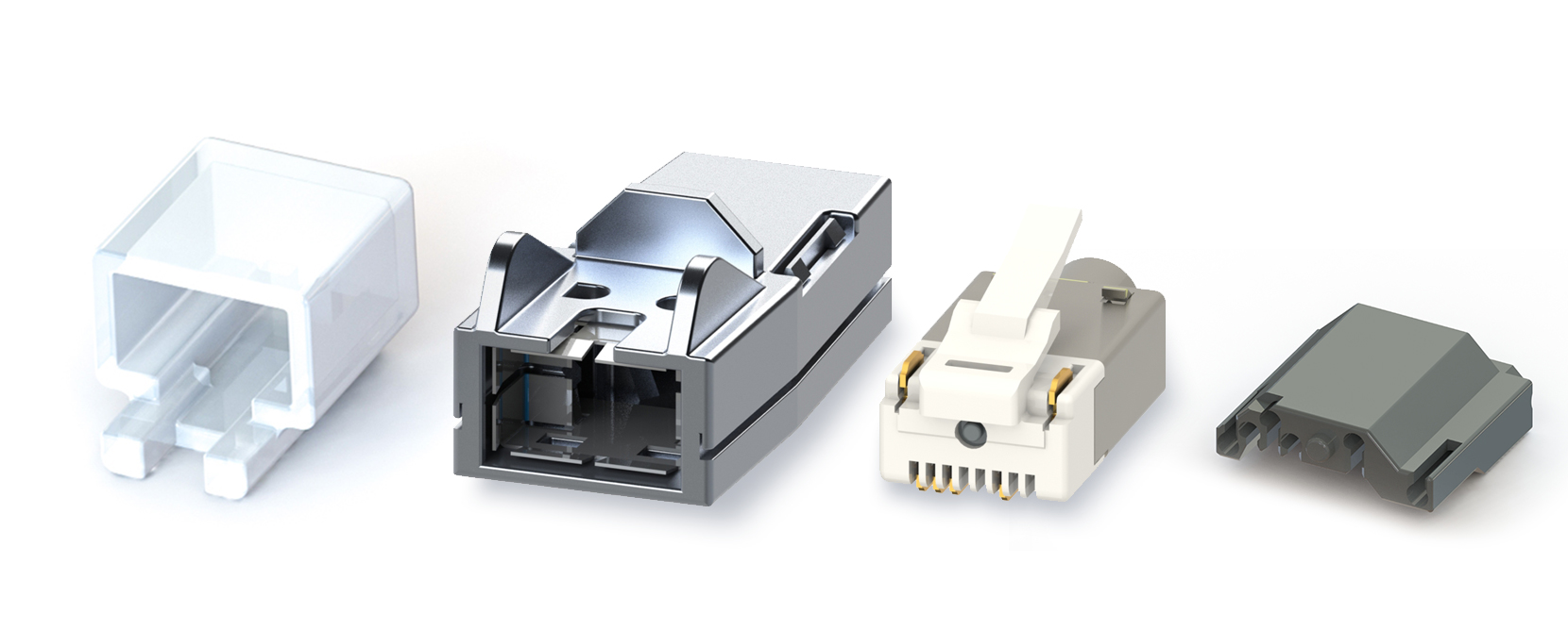 RJ45 – Y-CON – IP20 – Kit – Metal – Cover – 4 Signal / 2 Power Contacts