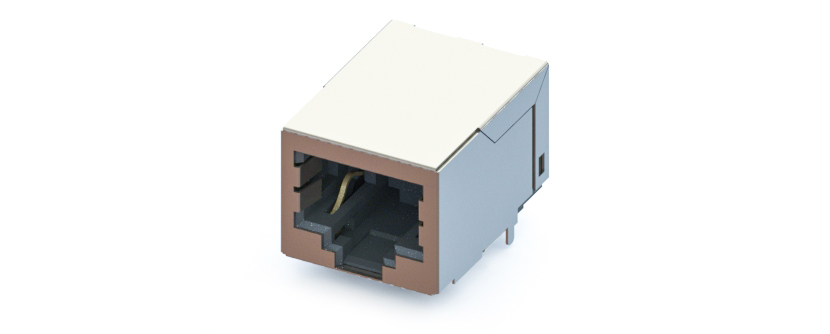RJ45 - Y-CON - Jack - 90° - Tab Down - 2 Power Contacts - Pick&Place - CAT5
