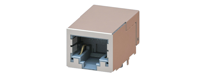 RJ45 - Y-CON - Jack - 90° - Tab Down - 2 Power Contacts - CAT5