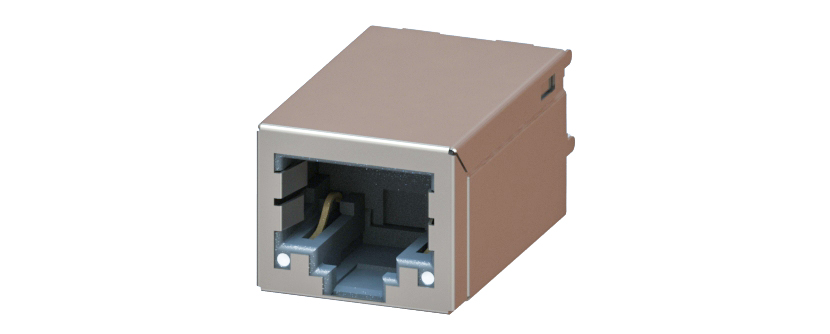 RJ45 - Y-CON - Jack - 180° - Magnetics - 2 Power Contacts - Lightpipes - 100MBit