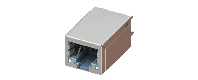RJ45 - Y-CON - Jack - 180° - 2 Power Contacts - Lightpipes - CAT5