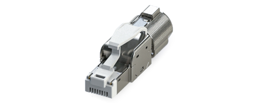 RJ45 - Y-CON IP20 - Plug - Tool Free Assembly - 2 Power Contacts - CAT6A