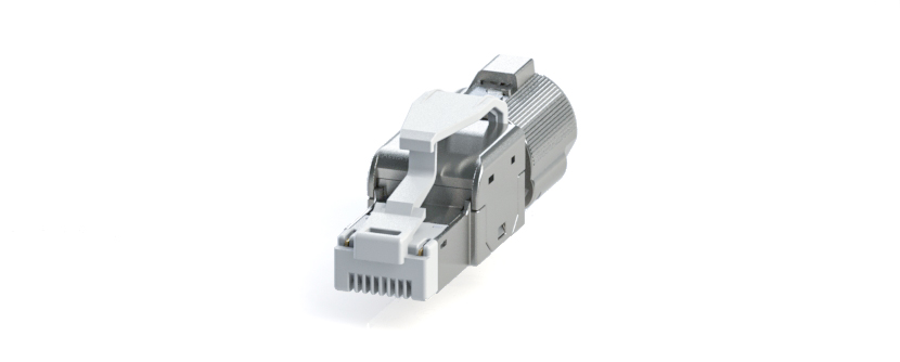 RJ45 - Y-CON IP20 - Plug - Tool Free Assembly - 2 Power Contacts - CAT5