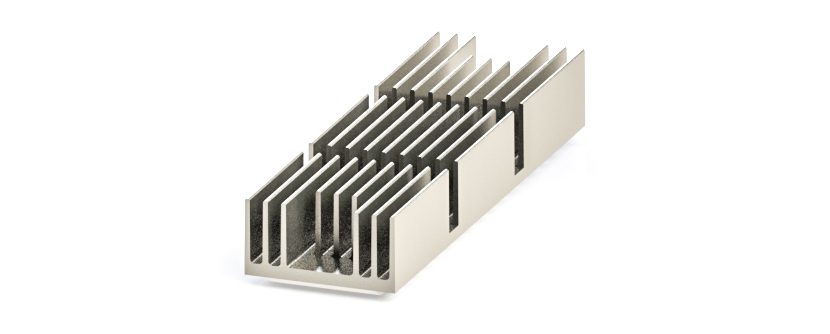 QSFP-DD Heatsink – fin type for front to back clip