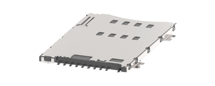 SIM Card Connector - push/push type - 8 contacts