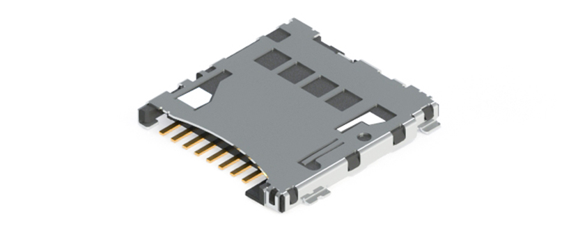 Micro SD Card Connector - push/push type - special card fly out brake